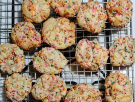 Confetti Cake Batter Cookies | Our Prairie Nest